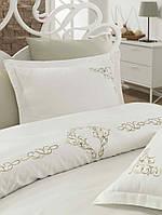 Комплект белья сатин с вышивкой Dantela Vita Erica krem