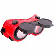 Очки для газосварки откидные круглые INTEROOL SP-0023