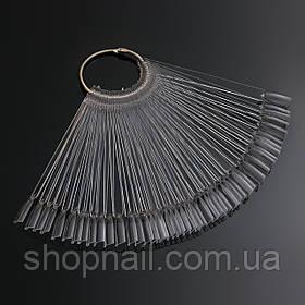 Палитра - веер на кольце  (квадрат), прозрачная на 50 образцов