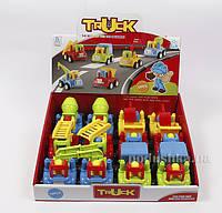 Игрушка для детей механическая Авто с водителем Lindo M 578  цвет - красный с ковшом