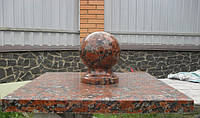 Крышка накрывная столба с шаром красная № 18