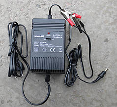Зарядное устройство MastAK MW-618, напряжение 6 и 12V, ток заряда 1800mA