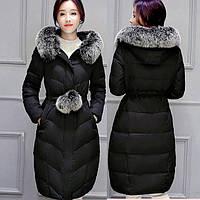 Зимнее пальто пуховик с помпонами.Хорошее качество. Доступная цена. Дешево. Код: КГ1903