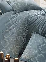 Комплект белья сатин с кружевом и вышивкой Dantela Vita Florina cagla yesili