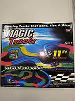 Детский конструктор светящийся трек — трасса Magic Tracks 165 деталей+машинка