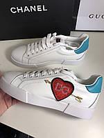 Креативные женские кроссовки DOLCE & GABBANA сердце