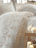 Комплект белья сатин с кружевом и вышивкой Dantela Vita Florina krem
