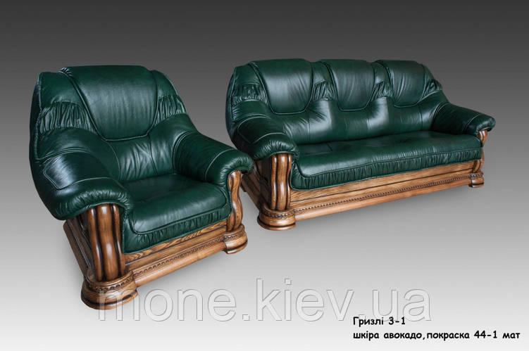"""Кресло в коже """"Гризли"""" , фото 2"""