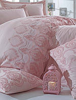 Комплект белья сатин с кружевом и вышивкой Dantela Vita Florina pudra