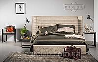 Итальянская кровать с широким изголовьем PIQIE фабрика Notte Brava