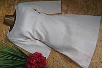 Платье из набивной ткани 1519 молоко М