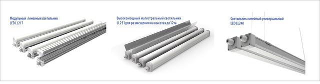 Светодиодные линейные светильники для склада и торговли Космос Лайтинг Украина