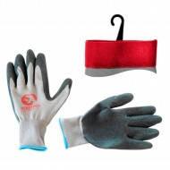 Перчатки синтетические с покрытием из латекса. серые 10&quot Intertool SP-0121