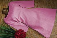 Платье из набивной ткани 1519 розовый S