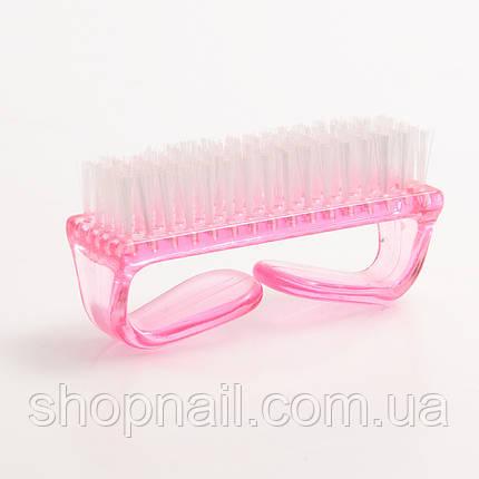 Щетка для удаления пыли с ногтей, цвет розовый, фото 2