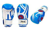 Перчатки боксерские кожаные на липучке ELAST BO-6162 (р-р 10-12oz, в ассортименте)