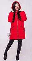 Куртка с декором красная