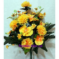 Искусственные цветы Хризантема + Орхидея