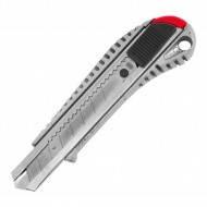 Нож с отламным лезвием 18мм металл направляющие обрез.ручка Housetool (25шт/уп)