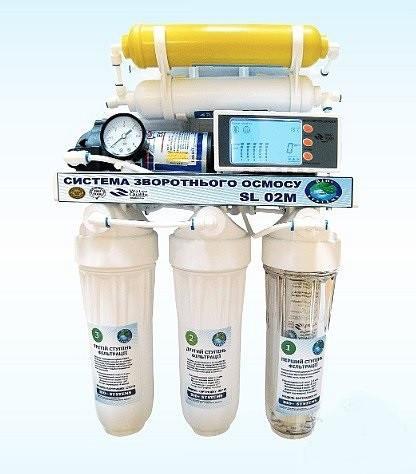 Система обратного осмоса BIO+systems RO-50-SL02M-NEW мембрана Filmtec 75 c насосом+мин. на колбе LUX