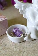 Серьги пусеты с камнем  Dior
