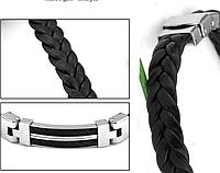 Стальной мужской браслет с плетением
