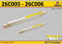 Метр складной деревянный 1м., TOPEX 26C005