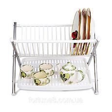Подставка под тарелки сушилка для посуды  Folding Rack kitchen., фото 2