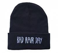 Женская  черная шапка Bad Hair Day