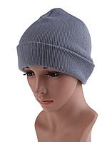 Серая женская шапка