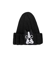 Вязаная черная шапка