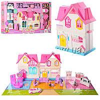 Кукольный домик Sweety Home 921 A-C: мебель + фигурки + машина (звук/свет)