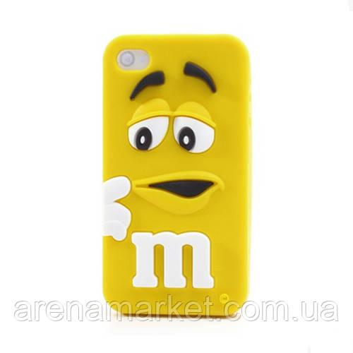 Силиконовый чехол для iPhone 4/4S M&M's (эм-энд-эмс)