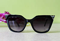 Черные солнцезащитные очки FENDI cat-eye Iridia
