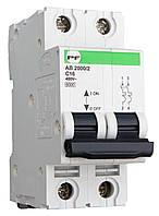"""Модульні автоматичні вимикачі АВ2000 STANDART 6кА    """"C""""  2P  1-63А"""