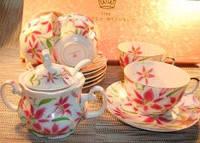 Сервиз чайный фарфоровый 13 единиц (250мл) Орхидея. Чехия