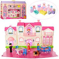 Кукольный домик Family House 8126: мебель + фигурки (звук/свет)