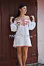 Короткое платье туника  вышитая лен, вышиванка,стиль бохо шик , Bohemian, этно,туника в Бохо-стиле, фото 6