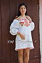 Короткое платье туника  вышитая лен, вышиванка,стиль бохо шик , Bohemian, этно,туника в Бохо-стиле, фото 7
