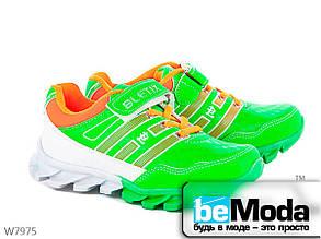 Удобные кроссовки детские Cinar на рельефной подошве зеленые