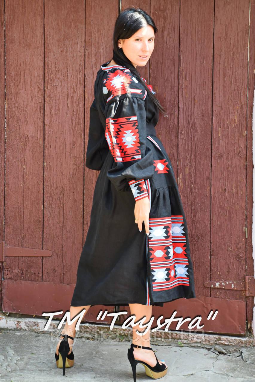 ec8e10e5712 Вышитое платье бохо вышиванка лен