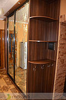 Шкаф-купе в прихожую с рисунком на стекле
