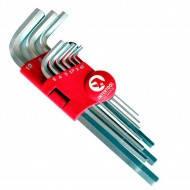 Набор Г-образных 6-гранных ключей удлиненных 9шт. 1.5-10 мм Housetool (10шт/уп)