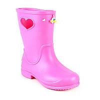 Детские дождевые сапоги из пены (ЭВА) для девочки ( р. 28-35)