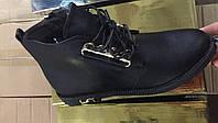 Чёрные ботинки демисезонные женские  Размеры 36-41