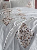 Комплект белья сатин с вышивкой Dantela Vita Ottoman kahve