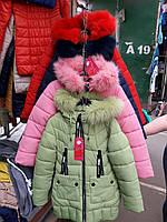 Модное пальто на зиму для девочек на флизе