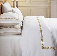 Комплект белья сатин с вышивкой Dantela Vita Sienna gold