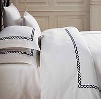 Комплект белья сатин с вышивкой Dantela Vita Sienna lacivert