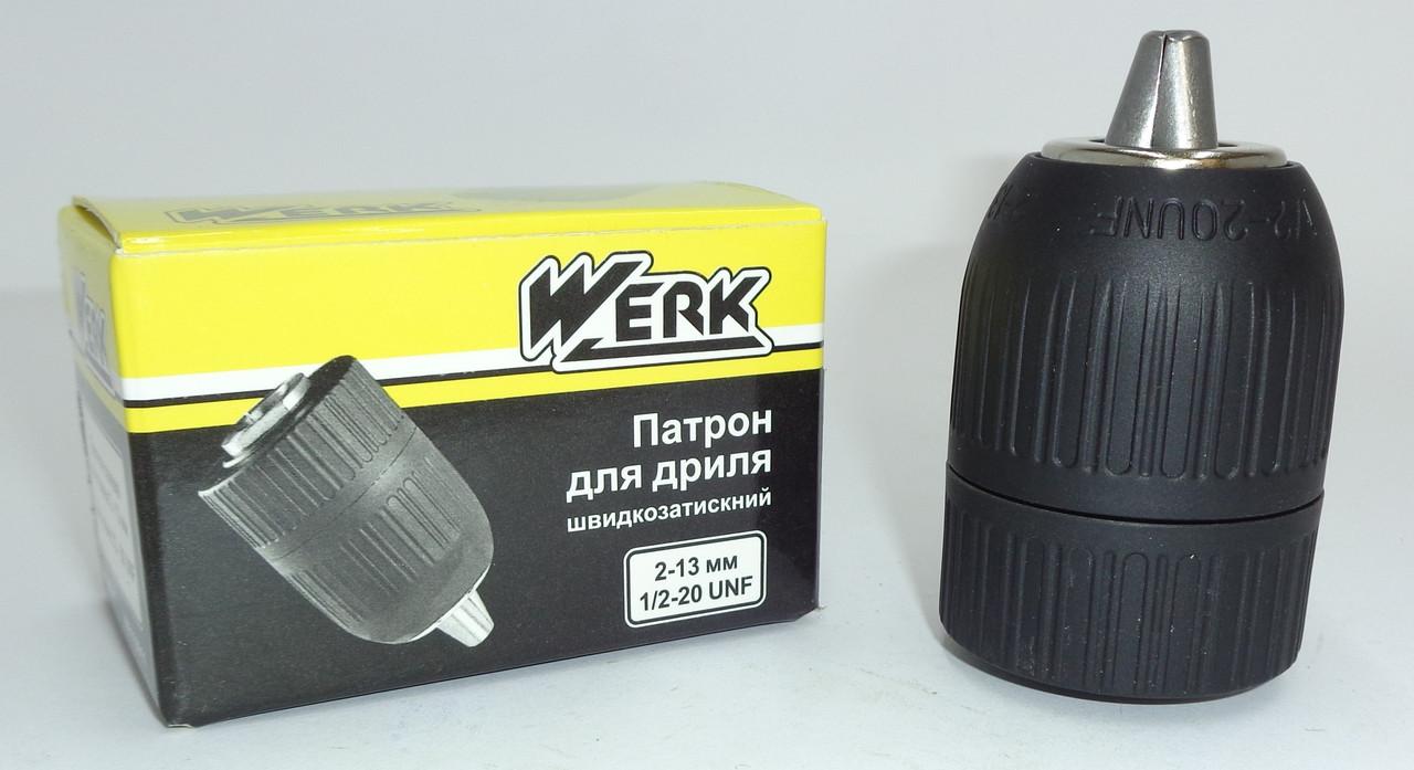 """Быстрозажимной патрон для дрель резьба 1/2""""x20, 2-13 мм"""